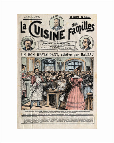 Illustration of Honore de Balzac Dining at Flicoteaux by Corbis