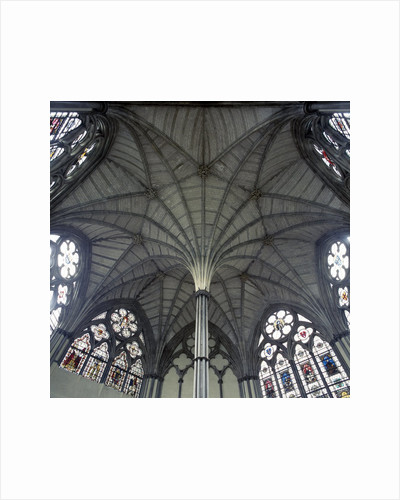 Fan Vaulting in Westminster Abbey Chapter House Ceiling by Corbis