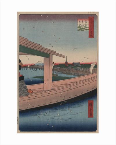 Distant View of Kinryu-zan Temple and Azuma Bridge by Ando Hiroshige