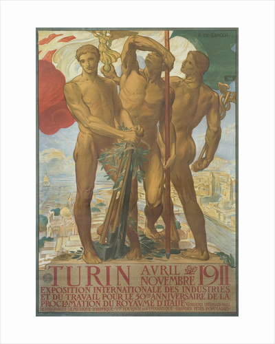 Turin Poster by Adolfo de Karolis