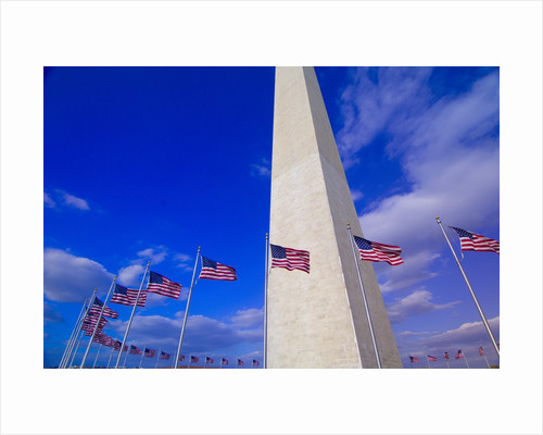 Flags Surrounding the Washington Monument by Corbis