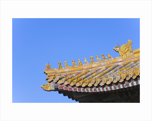 Traditional Decorative Roof Tiles in the Forbidden City by Corbis