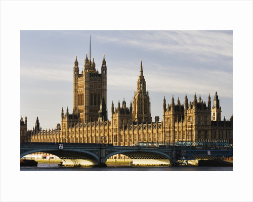Houses of Parliament and Westminster Bridge by Corbis