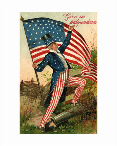 Give Us Independence Postcard with Uncle Sam by Corbis