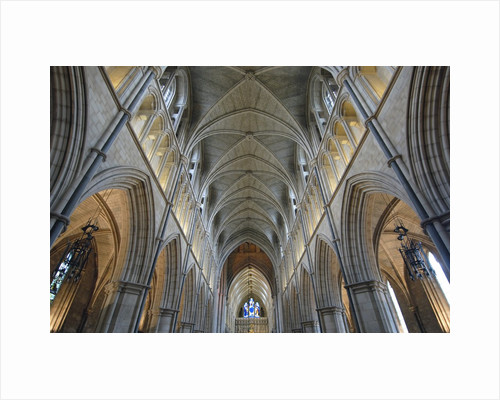 Nave of Southwark Cathedral in London by Corbis