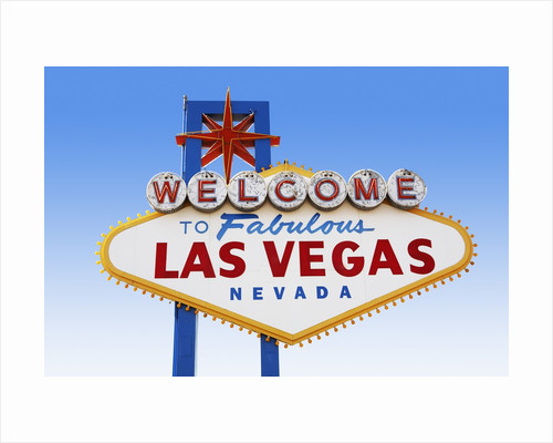Las Vegas Welcome Road Sign by Corbis