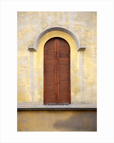 Shutters on Building Facade by Corbis