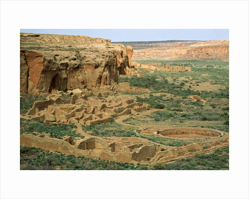 Chaco Canyon Ruins by Corbis