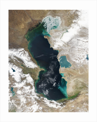 Ice Covering Northern Portion of the Caspian Sea by Corbis