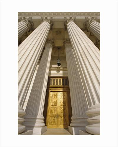 Bronze Doors of United States Supreme Court by Corbis