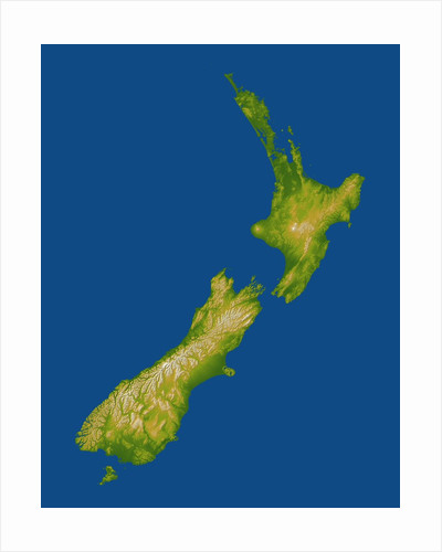 Topographic Image of New Zealand by Corbis
