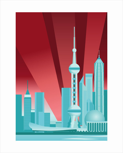 Pudong Skyline by Corbis