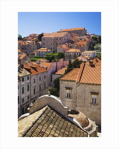 Red Terracotta Rooftops in Dubrovnik by Corbis