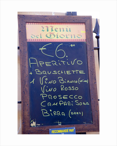Restaurant Sign in Rome by Corbis