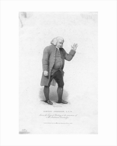 Portrait of Samuel Johnson by Edward Francis Finden