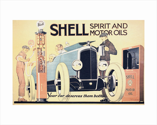 Shell Spirit and Motor Oils Poster by Rene Vincent