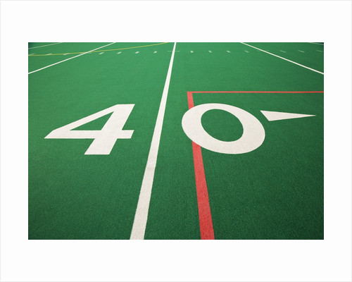 Forty Yard Maker on Football Field by Corbis
