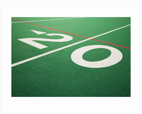 Twenty Yard Maker on Football Field by Corbis