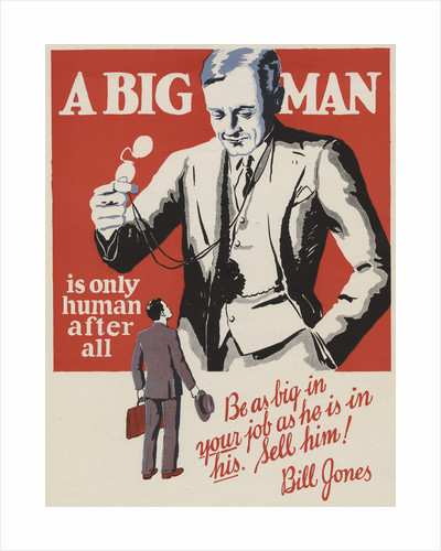 A Big Man Motivational Poster by Corbis