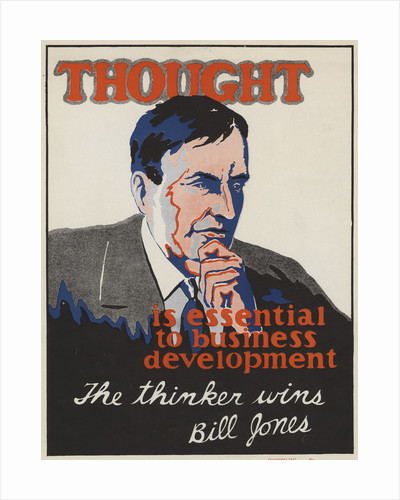 Thought Is Essential To Business Development Motivational Poster by Corbis