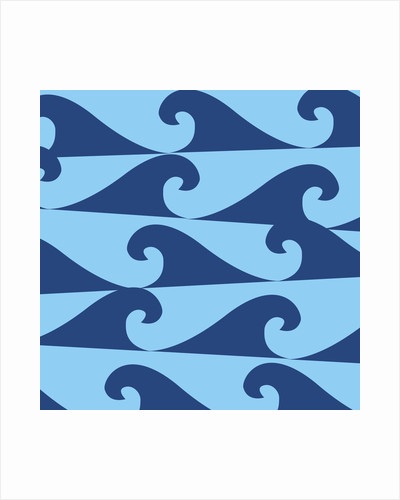 Blue Waves on Blue Pattern by Corbis