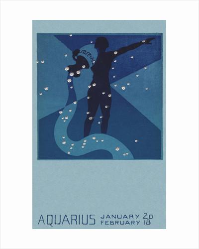 Aquarius Postcard by Paul Dubosclard