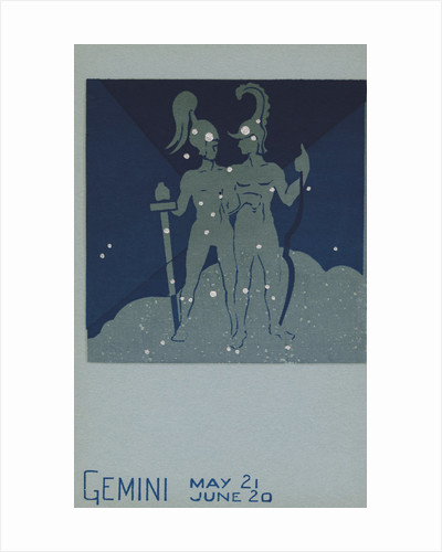 Gemini Postcard by Paul Dubosclard