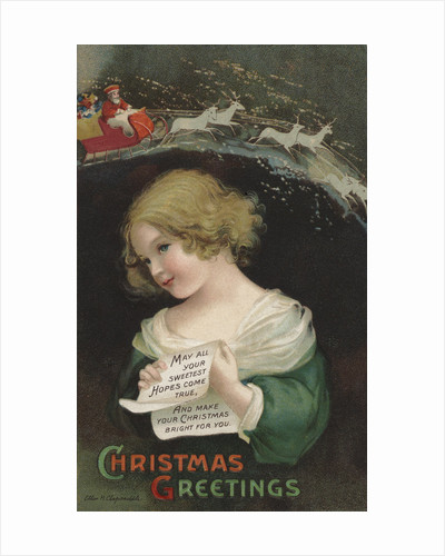Christmas Greetings Postcard by Ellen H. Clapsaddle