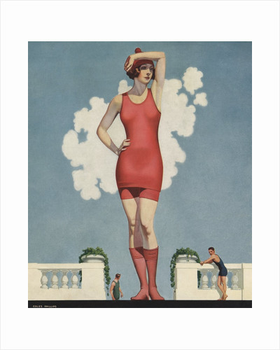 Illustration of Woman in Swimsuit by Coles Phillips