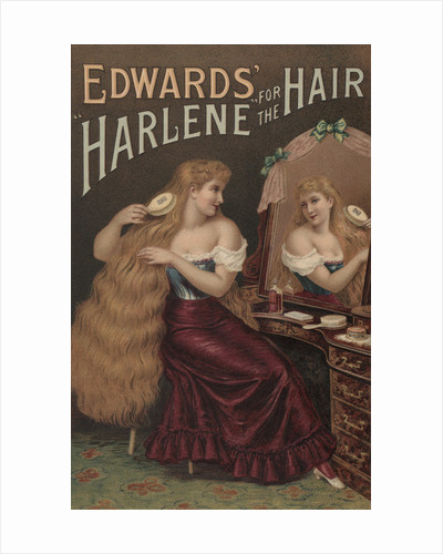 Edwards' Harlene for the Hair Illustration by Corbis