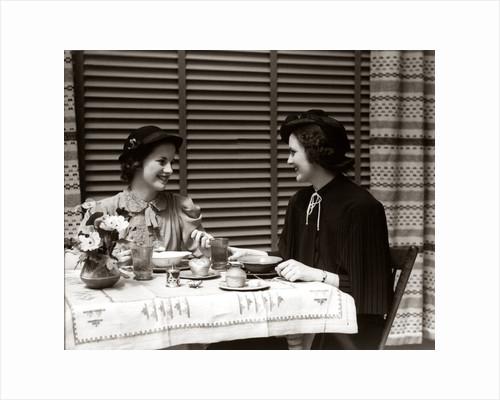 1930steo Women Dining Restaurant by Corbis