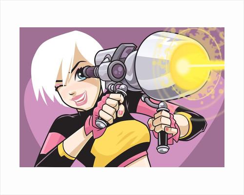 Girl with Blaster Gun by Corbis