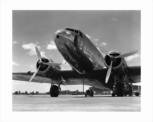 1940s Domestic Passenger Airplane Dual Propeller Landing Gear by Corbis