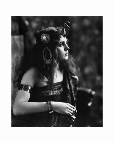 1910s 1920s Woman In Egyptian Costume Wearing Jeweled Arm Cuff and Ornate Head Piece by Corbis