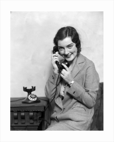 1920s Woman Talking On Telephone by Corbis