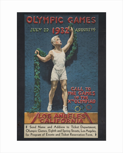 Olympic Games 1932 Poster by Julio Kilenyi
