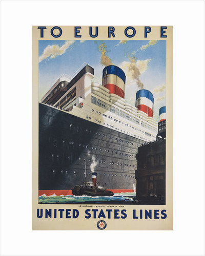 To Europe United States Lines Poster by Corbis