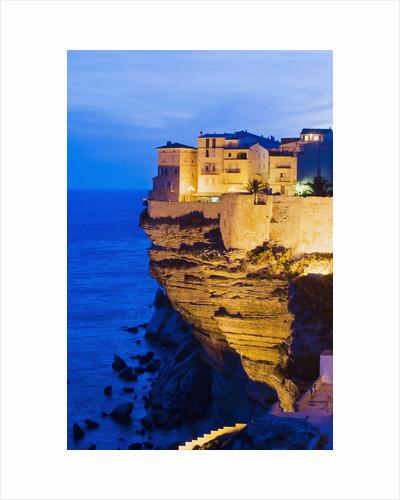 Bonifacio High Town on Limestone Cliff by Corbis