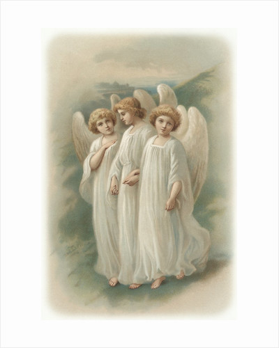 Illustration of Three Young Angels by Corbis