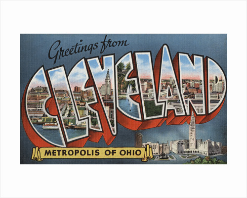 Greetings from Cleveland Postcard by Corbis