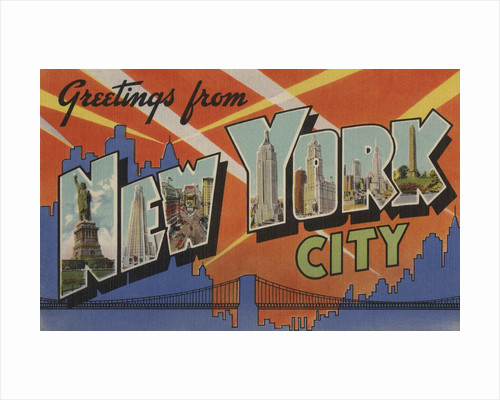 Greetings from New York City Postcard by Corbis