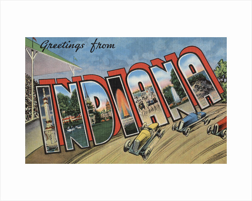 Greetings from Indiana Postcard by Corbis