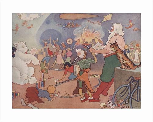 Illustration of Elves in Santa's Workshop by E. Boyd Smith