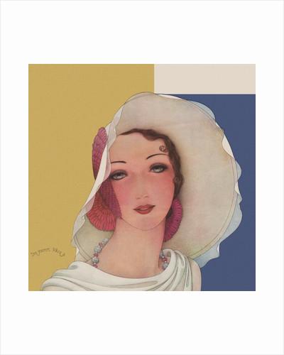 Magazine Illustration of Woman Wearing Hat by Dynevor Rhys