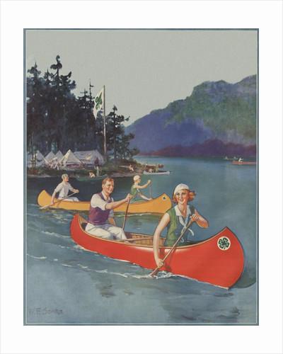 Magazine Illustration of Four-H Camp by William Fulton Soare