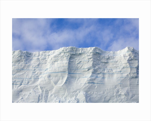 Blue Tabular Iceberg Sculpted by Waves by Corbis