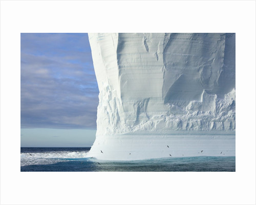 Massive Tabular Iceberg Sculpted by Waves by Corbis