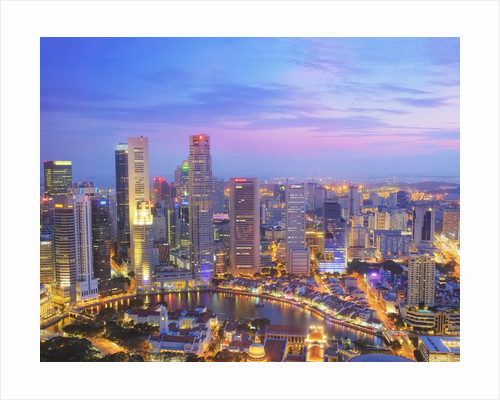 Singapore Skyline at Dusk by Corbis