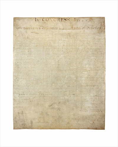 Declaration of Independence by Corbis