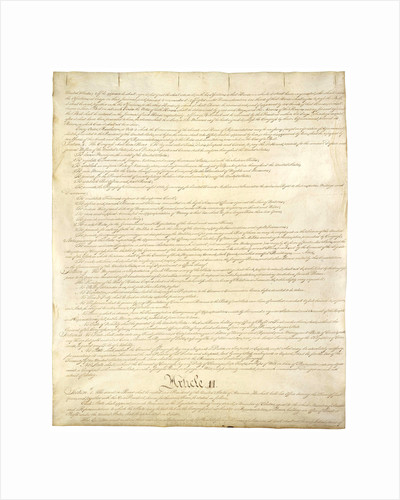 Page Two of the Constitution of the United States by Corbis